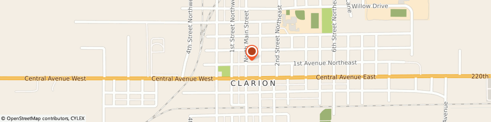 Route/map/directions to Snively & Gildner Pc, 50525 Clarion, 219 NORTH MAIN STREET
