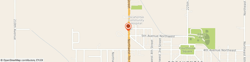 Route/map/directions to U-Haul Co, 50574 Pocahontas, 501 NW 7th St