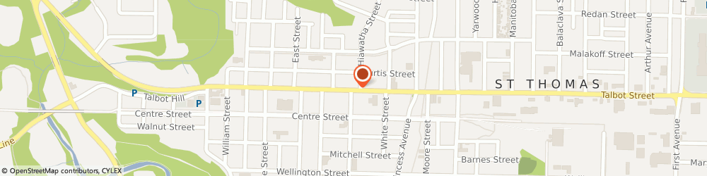 Route/map/directions to Hair Ideas, N5P 1C1 St. Thomas, 469 Talbot Street