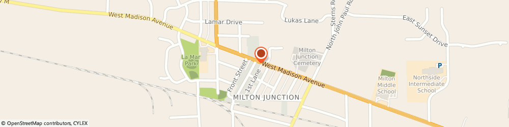 Route/map/directions to American Family Insurance Agency, 53563 Milton, 12 MERCHANT ROW