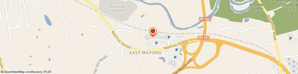 Route/map/directions to Citizens Bank ATM, 03055 Milford, Shaws Milford, 586 Nashua Street