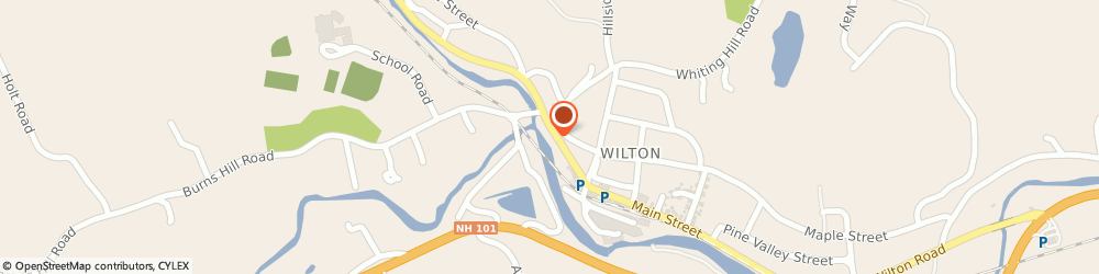 Route/map/directions to Santander Bank ATM, 03086 Wilton, 27 Main St