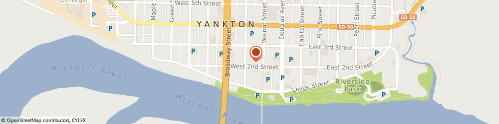 Route/map/directions to Wells Fargo YANKTON, 57078 Yankton, 200 Cedar St