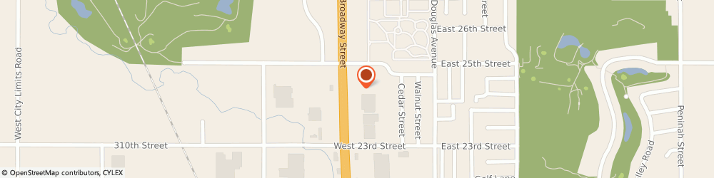 Route/map/directions to Great Western Bank, 57078 Yankton, 2408 Broadway Ave