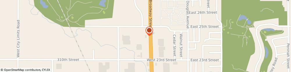 Route/map/directions to Navy Federal Credit Union, 57078 Yankton, 2405 Broadway
