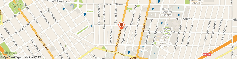 Route/map/directions to PKK Wealth Management, 14202 Buffalo, 534 Delaware Avenue