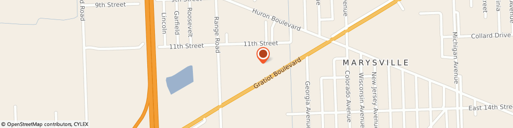 Route/map/directions to Great Clips, 48040 Marysville, 3156 Gratiot Blvd