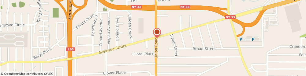Route/map/directions to U-Haul Co., 14225 Cheektowaga, 3535 GENESEE ST