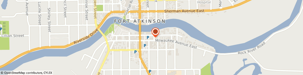 Route/map/directions to Associated Bank, 53538 Fort Atkinson, 37 E. Milwaukee Avenue