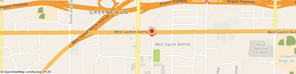 Route/map/directions to SUPERCUTS, 53220 Greenfield, 7417 W Layton Ave