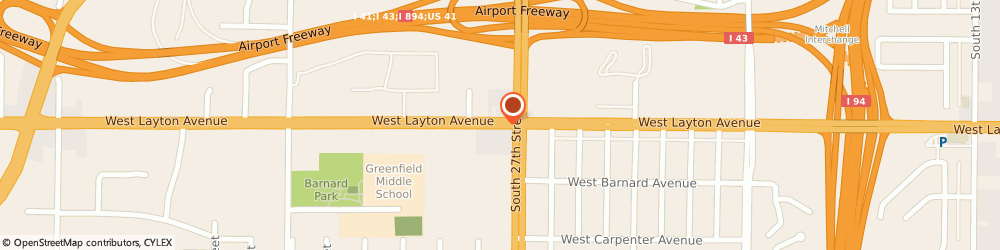 Route/map/directions to American Family Insurance- Dennis, Matt Agency Inc, 53221 Greenfield, 2745 W LAYTON AVE