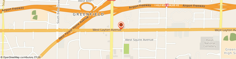 Route/map/directions to American Family Insurance, 53220 Milwaukee, 7424 WEST LAYTON AVENUE