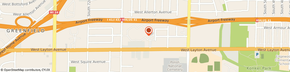 Route/map/directions to English Meadows Apartments, 53220 Milwaukee, 6510 WEST ENGLISH MEADOWS DRIVE