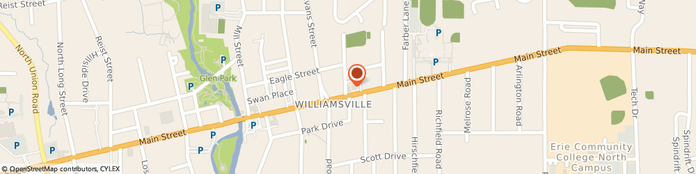 Route/map/directions to Masonic Lodge, 14221 Williamsville, 5808 MAIN ST