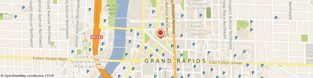 Route/map/directions to Tre Cugini, 49503 Grand Rapids, 100 MONROE CENTER ST NW