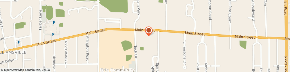 Route/map/directions to Newman Center, 14221 Williamsville, 6325 MAIN ST