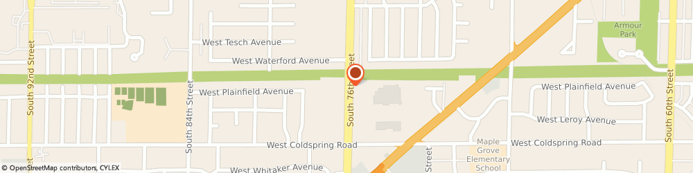 Route/map/directions to American Family Insurance, 53220 Greenfield, 4147 S 76TH ST