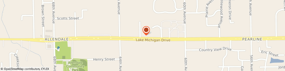 Route/map/directions to Edward Jones - Financial Advisor: Eric O'Brien, 49401 Allendale, 6261 Lake Michigan Drive