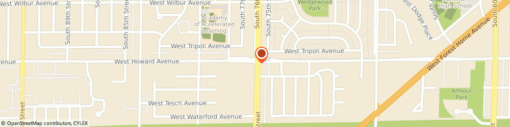 Route/map/directions to American Family Insurance- Lorene Hirsch, 53220 Milwaukee, 3927 S 76TH ST
