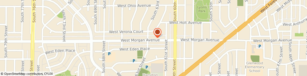 Route/map/directions to Jerrys Towing, 53214 Milwaukee, 6210 W MORGAN AVE