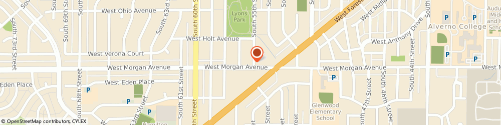 Route/map/directions to Arcom Enterprises Inc, 53220 Milwaukee, 5500 W Morgan Ave