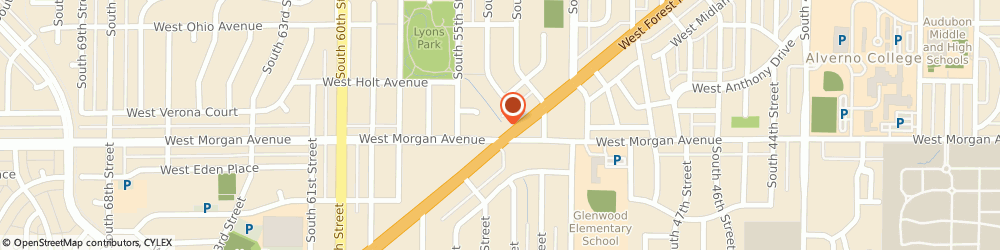 Route/map/directions to Twenty First Century Auto, 53220 Milwaukee, 5300 W. Forest Home Ave.