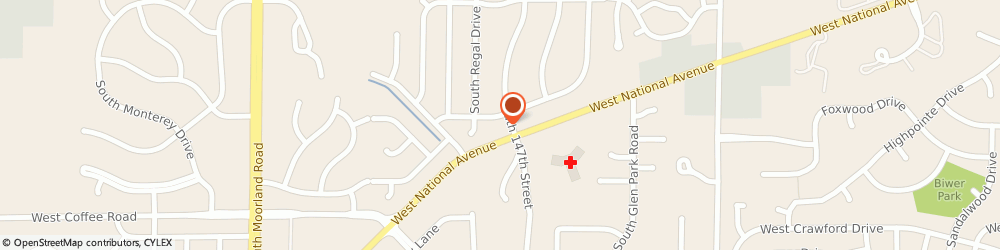 Route/map/directions to Caliber Collision, 53151 New Berlin, 14750 W. National Avenue