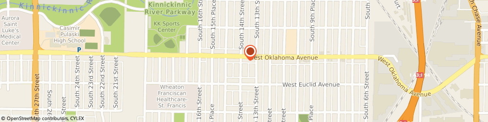 Route/map/directions to Liberty Tax Service, 53215 Milwaukee, 1335 W Oklahoma Ave