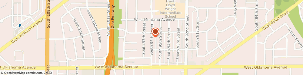 Route/map/directions to Kitchen Solvers, 53227 Milwaukee, 2919 S 96Th St