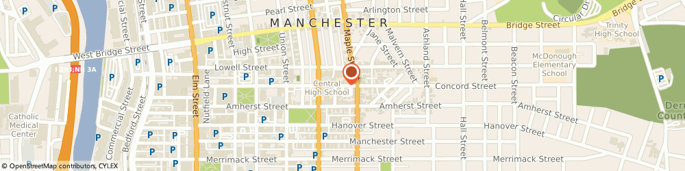 Route/map/directions to Gospel Baptist Church, 03101 Manchester, 52 Concord St