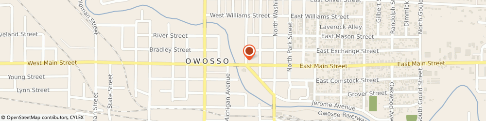 Route/map/directions to Nature Conservancy, 48867 Owosso, 308 W Main St Ste 7