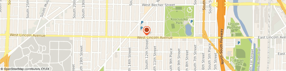 Route/map/directions to Liberty Tax Service, 53215 Milwaukee, 1212 W Lincoln Ave