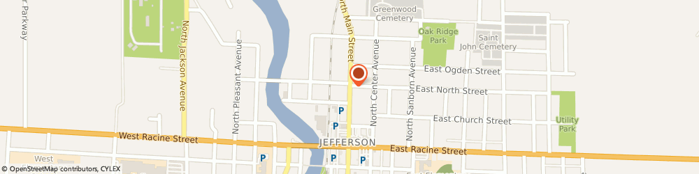 Route/map/directions to Progressive Insurance, 53549 Jefferson, 223 S Main St