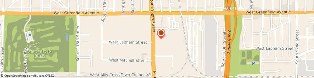 Route/map/directions to Starbucks Coffee Co, 53214 Milwaukee, 1500 SOUTH 108TH STREET