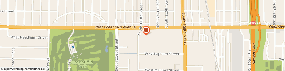 Route/map/directions to Caliber Collision, 53214 West Allis, 1434 South 113th Street