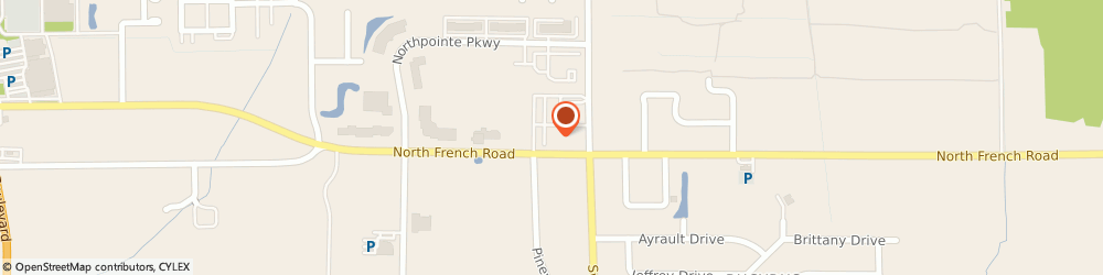Route/map/directions to G. Samuel Bitar, 14228 Amherst, 656 N French Rd