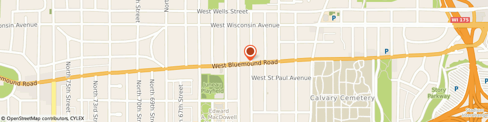 Route/map/directions to STD Testing Services MILWAUKEE, 53213 Milwaukee, 6200 W Bluemound Rd 2Nd Fl