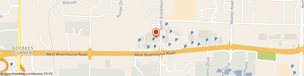 Route/map/directions to Faye's, 53045 Brookfield, 18900 W Bluemound Rd