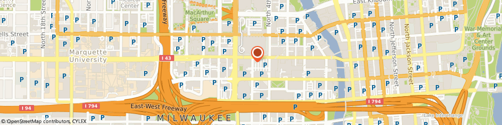 Route/map/directions to Starbucks Coffee Hilton, 53203 Milwaukee, 509 W Wisconsin Ave