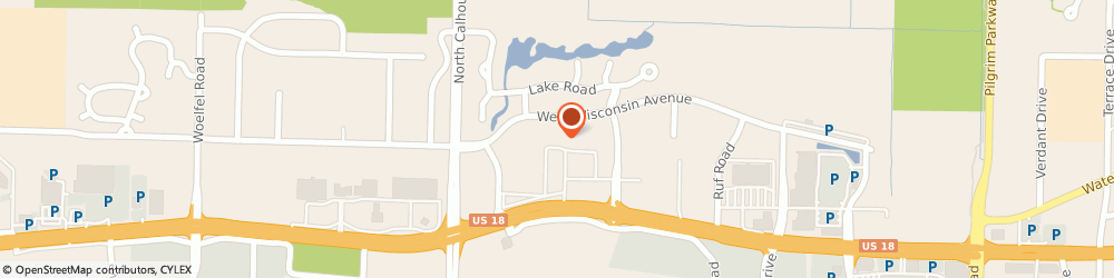 Route/map/directions to David's Bridal, 53005 Brookfield, 16900-CW Blue Mound Road