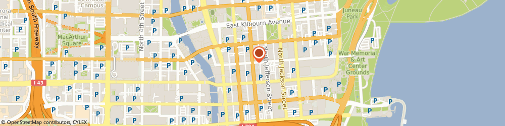 Route/map/directions to Fah Towing, 53202 Milwaukee, STREET
