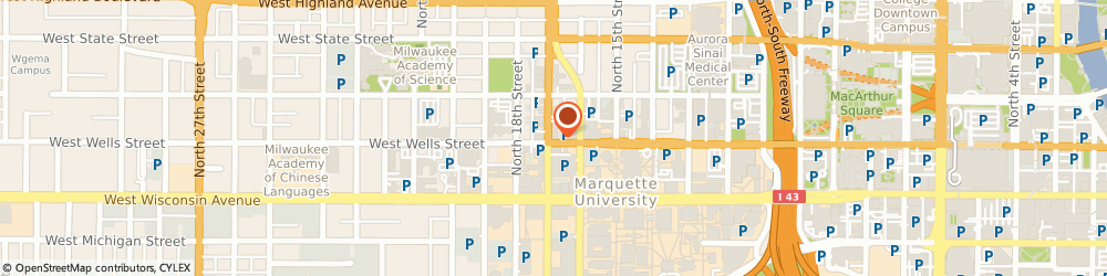 Route/map/directions to 7-Eleven, 53233 Milwaukee, 1624 W Wells St