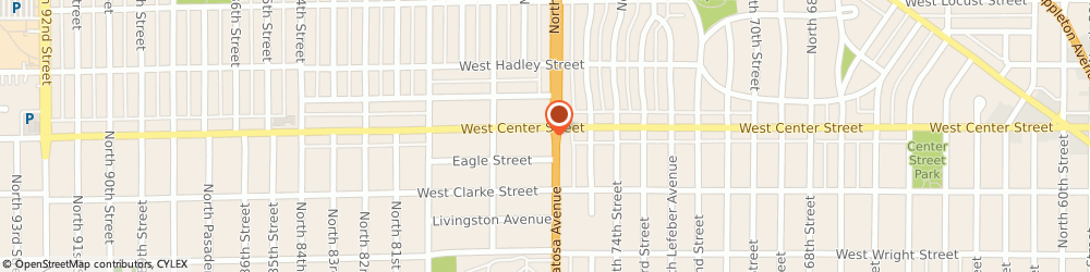 Route/map/directions to Blamer's Auto Repair, Inc., 53222 Milwaukee, 7605 W Center St