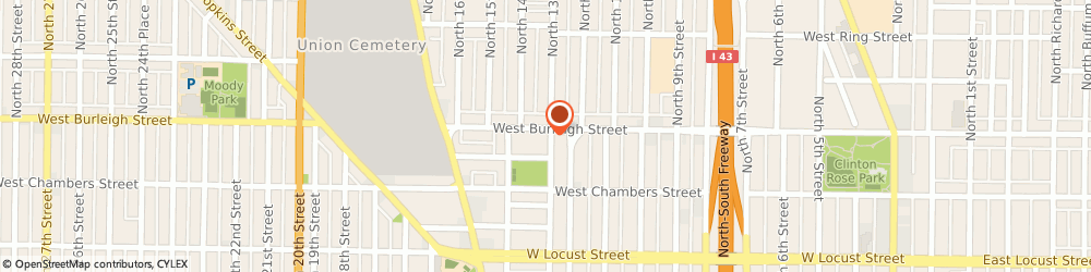 Route/map/directions to Reds Auto Center, 53206 Milwaukee, 1301 W BURLEIGH ST