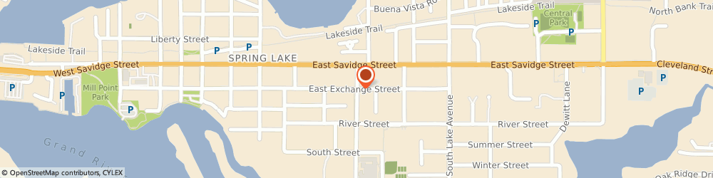 Route/map/directions to Discovery Montessori School, 49456 Spring Lake, 303 E Exchange St