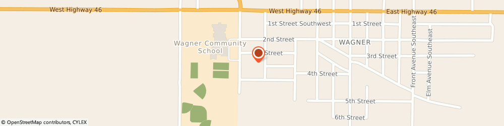 Route/map/directions to Wagner Community Clinic Avera, 57380 Wagner, 513 3rd St SW