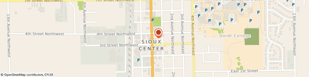 Route/map/directions to Taco John's, 51250 Sioux Center, 334 N Main Ave