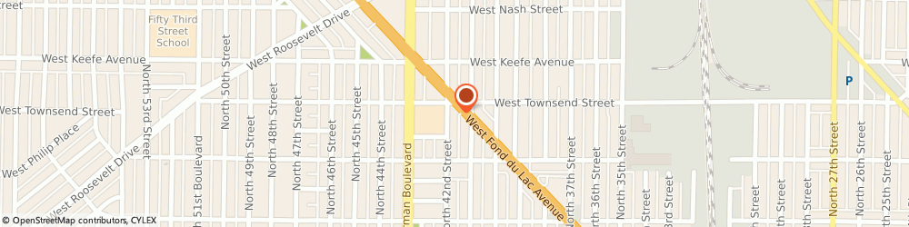 Route/map/directions to Marathon Chesterfield Chicken, 53216 Milwaukee, 4137 West Fond du Lac Avenue