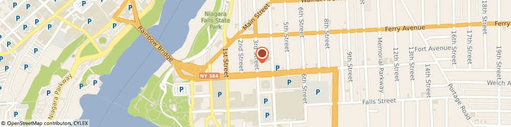 Route/map/directions to Bank of America, 14301 Niagara Falls, 418 THIRD ST