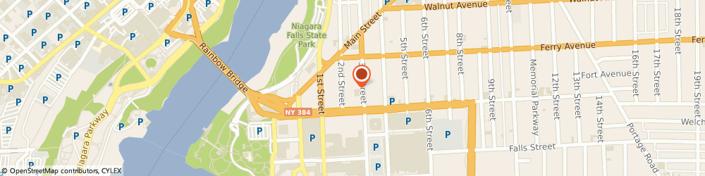 Route/map/directions to Bank of America, 14301 Niagara Falls, 418 3RD ST